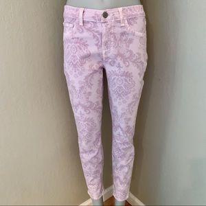 J BRAND Soft Lilac Print Capri Jeans Size 27